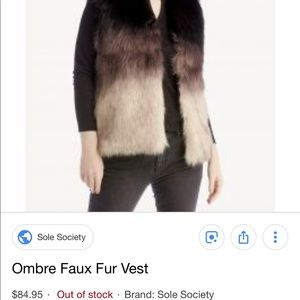 Sole society ombré faux fur vest